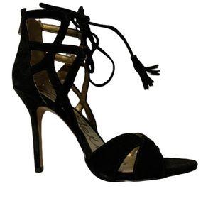 Sam Edelman black suede lace up heels